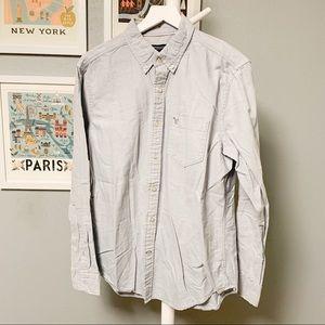 American Eagle Oxford Button-Down Shirt L